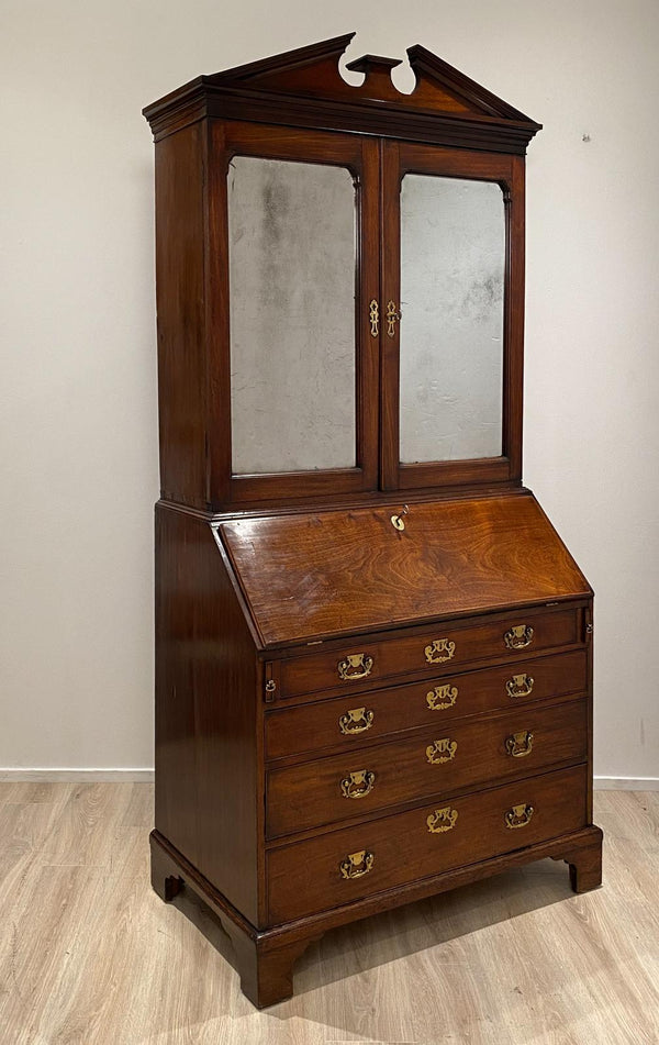 Georgian Secretary Mahogany Bookcase, Circa 1770