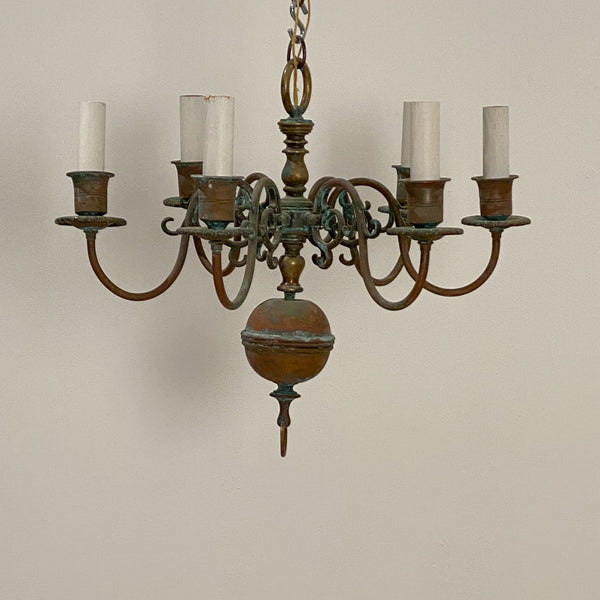 Copper Williamsburg Style Chandelier