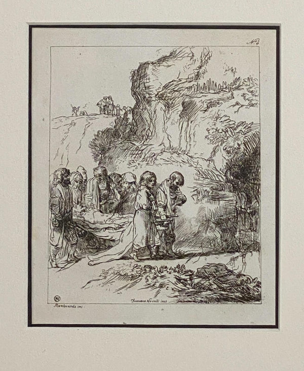 Circa 1770 Rembrandt Etching #4, by Francesco Novelli