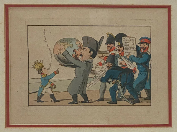 Napoleon & The World Political Cartoon, France Circa 1810