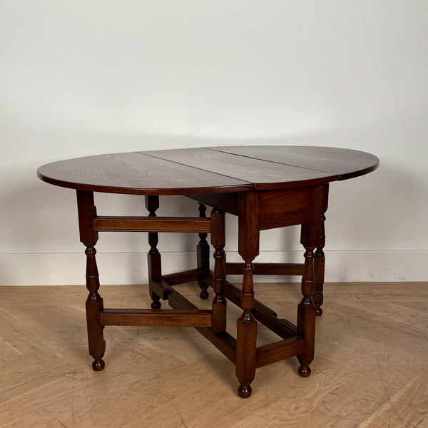 Oak Drop Leaf Table, England Circa 19th Century