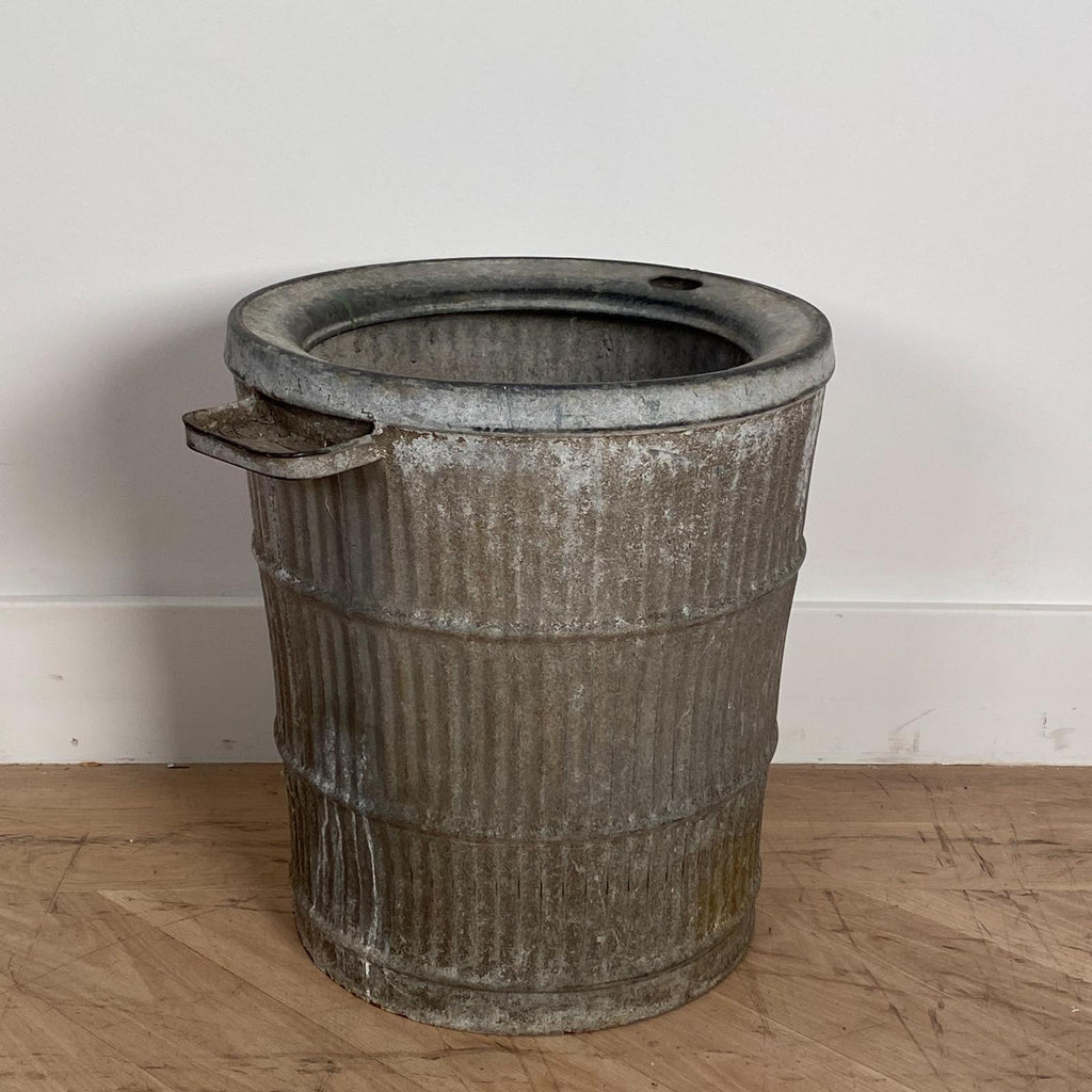 Large Antique Zinc Bucket