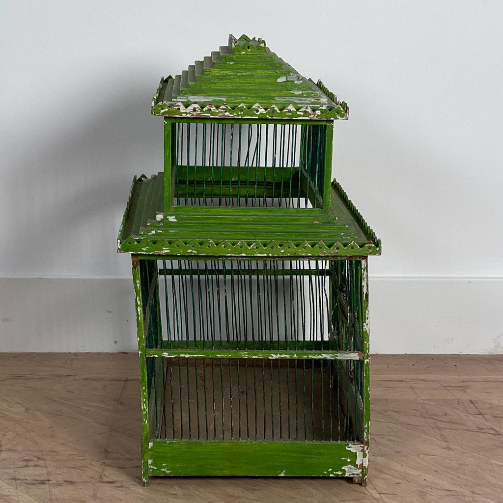 Green Painted Bird Cage, South East Asia Circa 1900