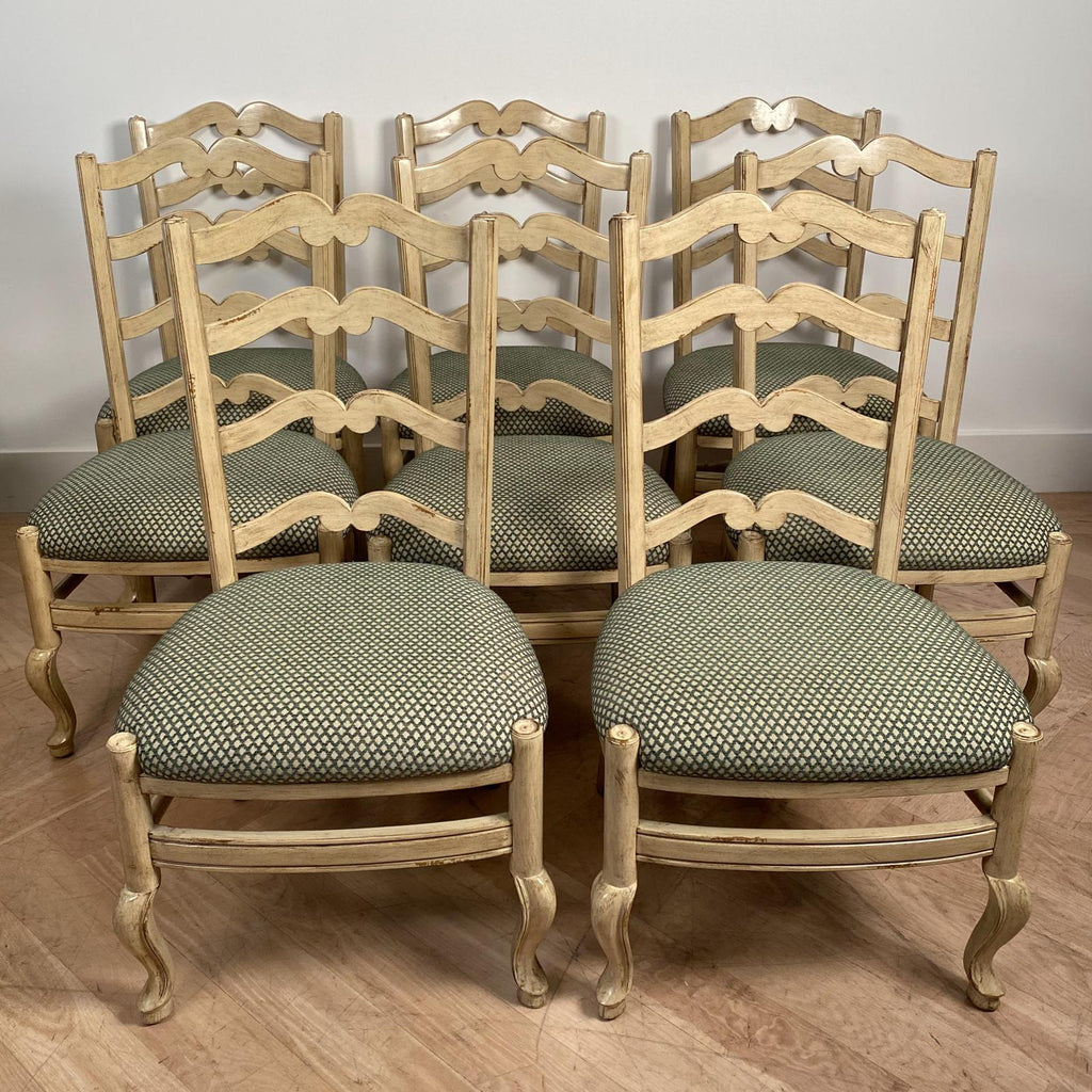 Set of 8 Vintage Ladderback Side Chairs