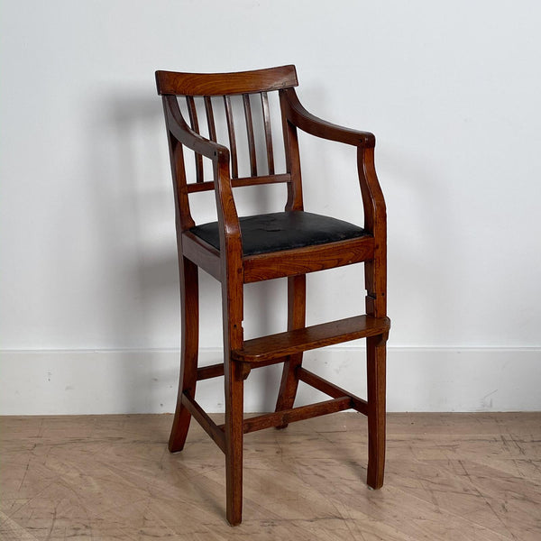 Georgian Elm Child's Chair, England Circa Early 19th Century