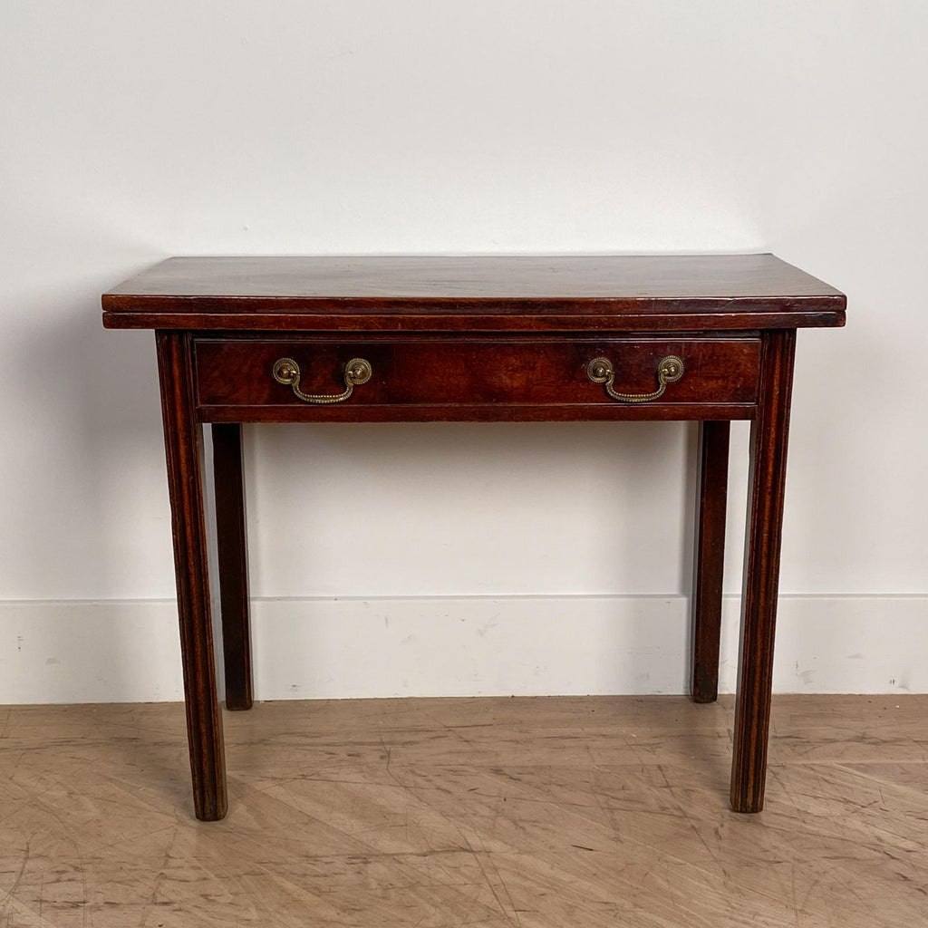 English Mahogany Game Table, 19th Century