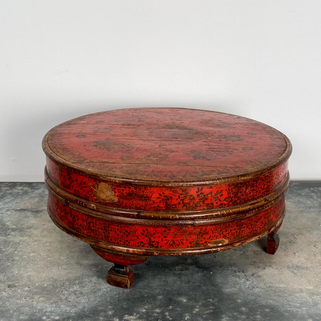 Red Round Box, South East Asia Circa 19th Century