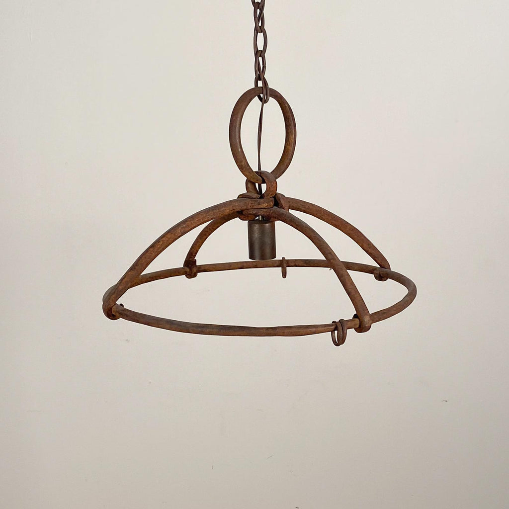 Wrought Iron Rack Chandelier, Spain Circa 18 - 19th Century