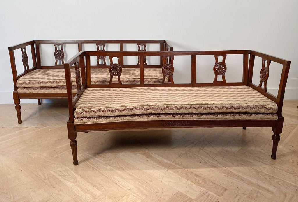 Two Similar Settees, Italy 18th - 19th Century
