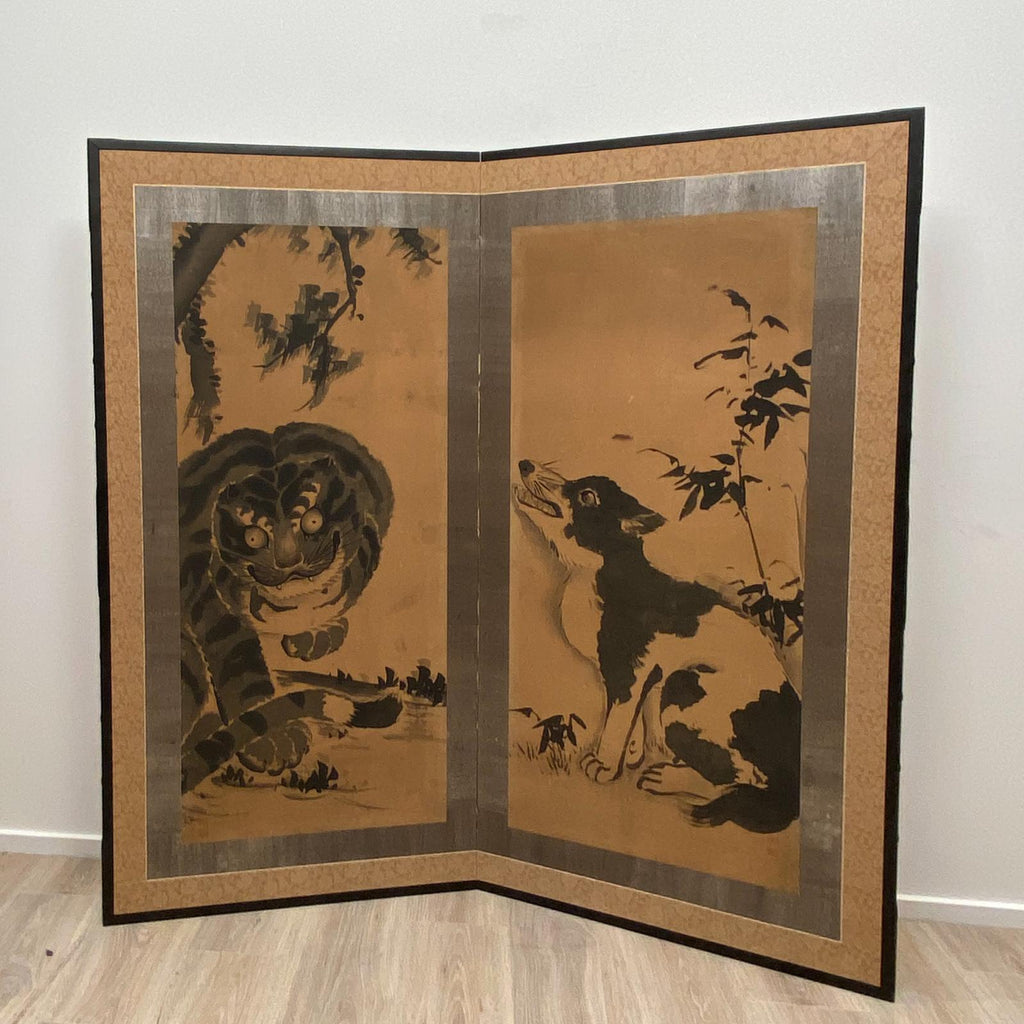 2 Panel Screen, Japan Meiji Period