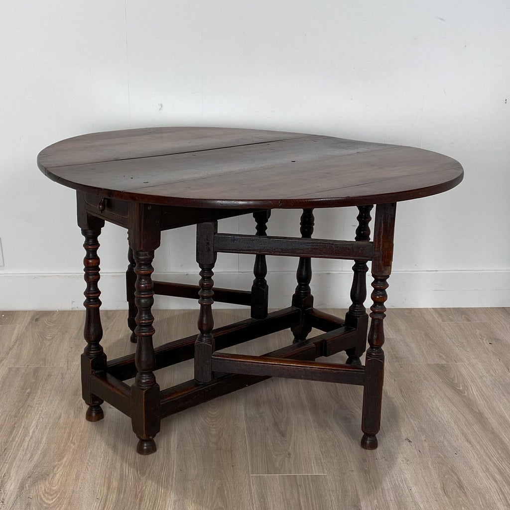 Charles II Oak Drop Leaf Table, England 17th Century