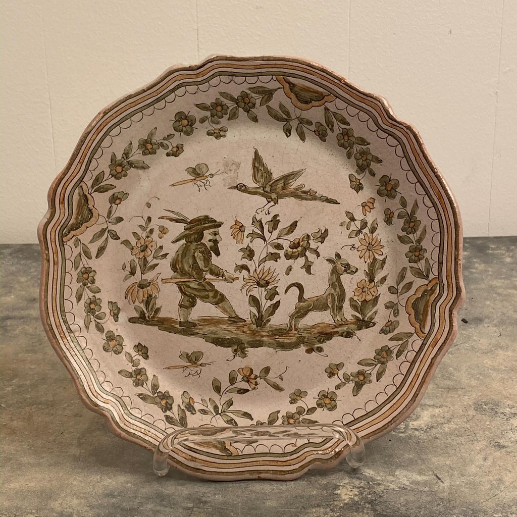 Faïence Plate, France 18th Century