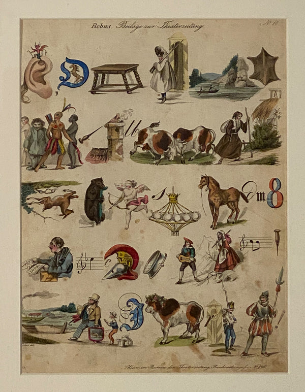 Rebus - Picture Puzzel, Germany 19th Century, #10