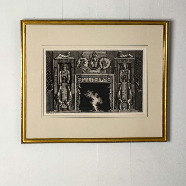 Fireplace Surround 3 Piranesi Engraving, Italy Circa 1760
