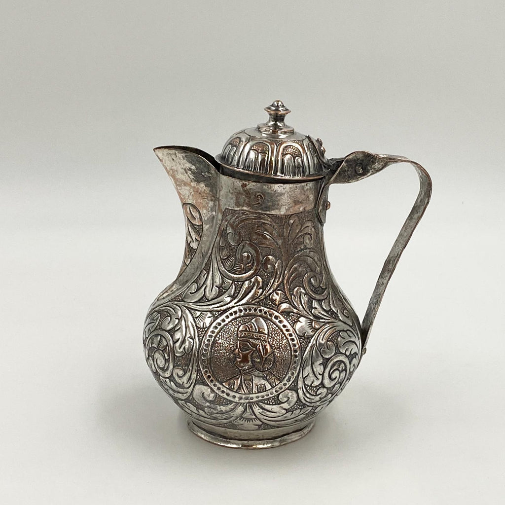 Silver on Copper Water Jug, 19th Century