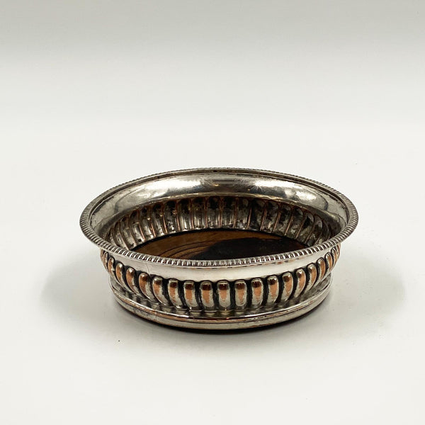 Silver Plate Wine Coaster, 19th Century