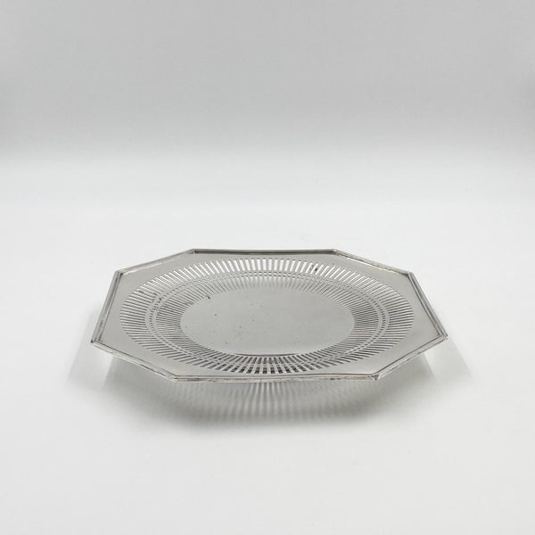 Octagonal Sterling Silver Plate, American