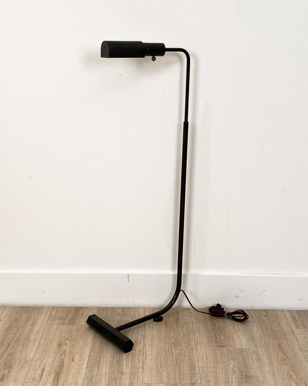 Vintage Black Patinated Floor Lamp