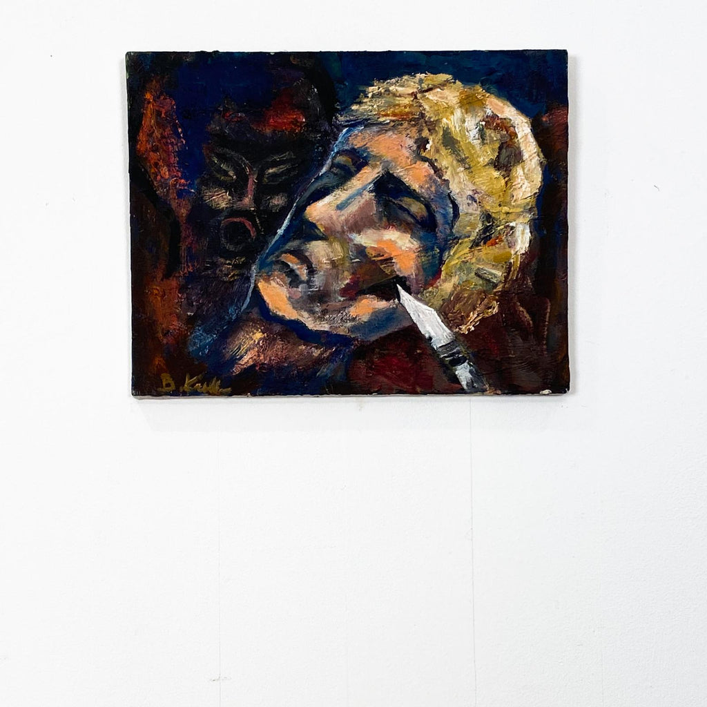 Oil on Canvas of a Head, Mid Century