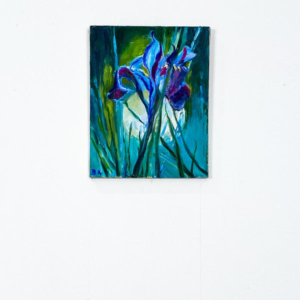 Single Iris, Oil on Canvas, American