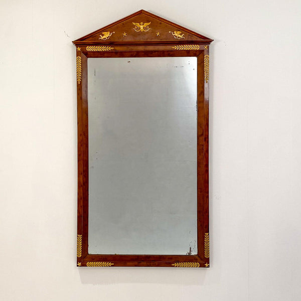 Circa 1810 French Empire Mahogany Mirror