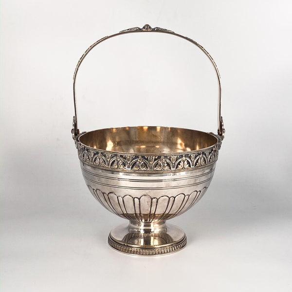 Silver on Copper Basket, England Circa Late 19th Century