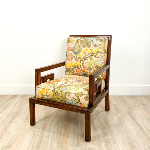Mid Century Chinese Style Armchair, America