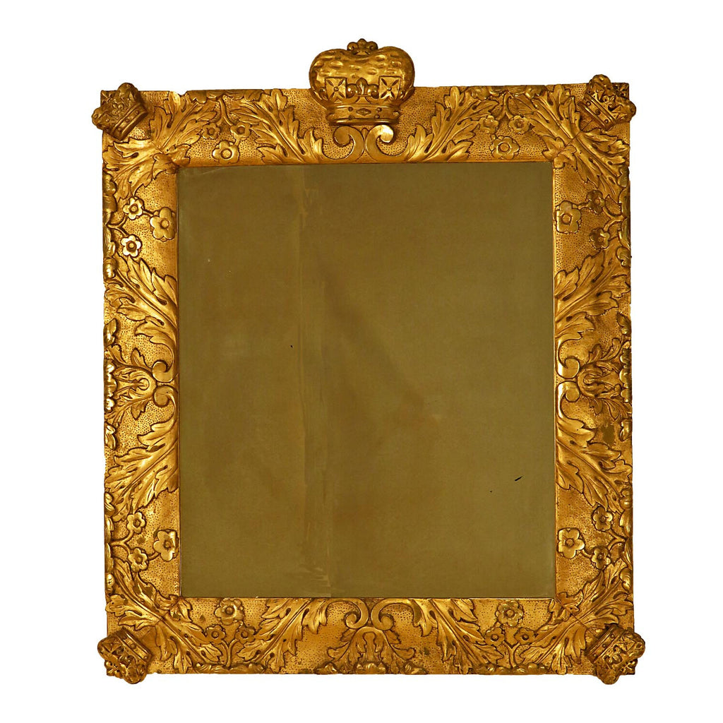 19th Century Northern European Mirror with Crowns