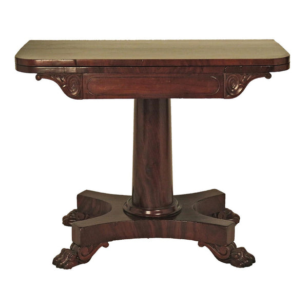 19th Century English Regency Pedestal Game Table