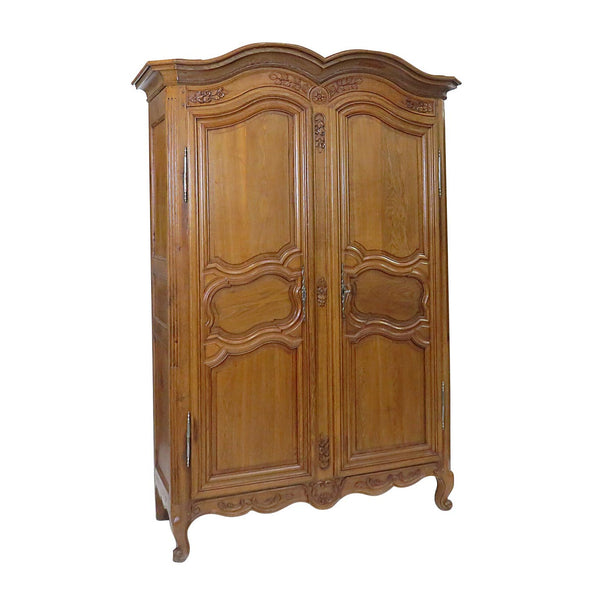 Louis XV Style Oak Armoire, France circa 1880