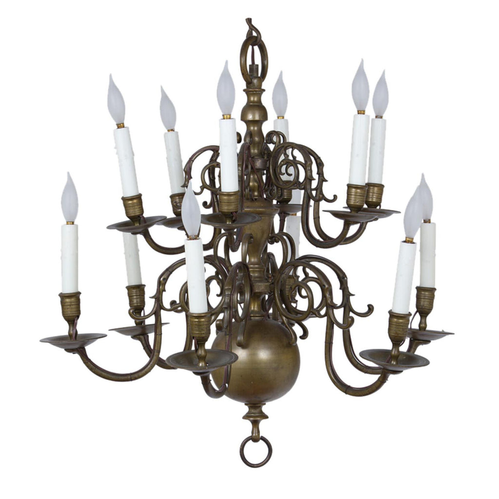 Dutch Baroque Brass Chandelier