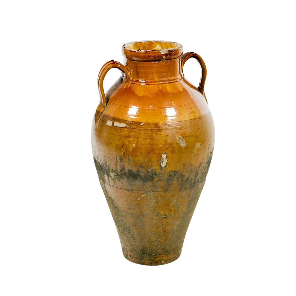 Yellow Glazed Amphora, Italy 18th or 19th Century