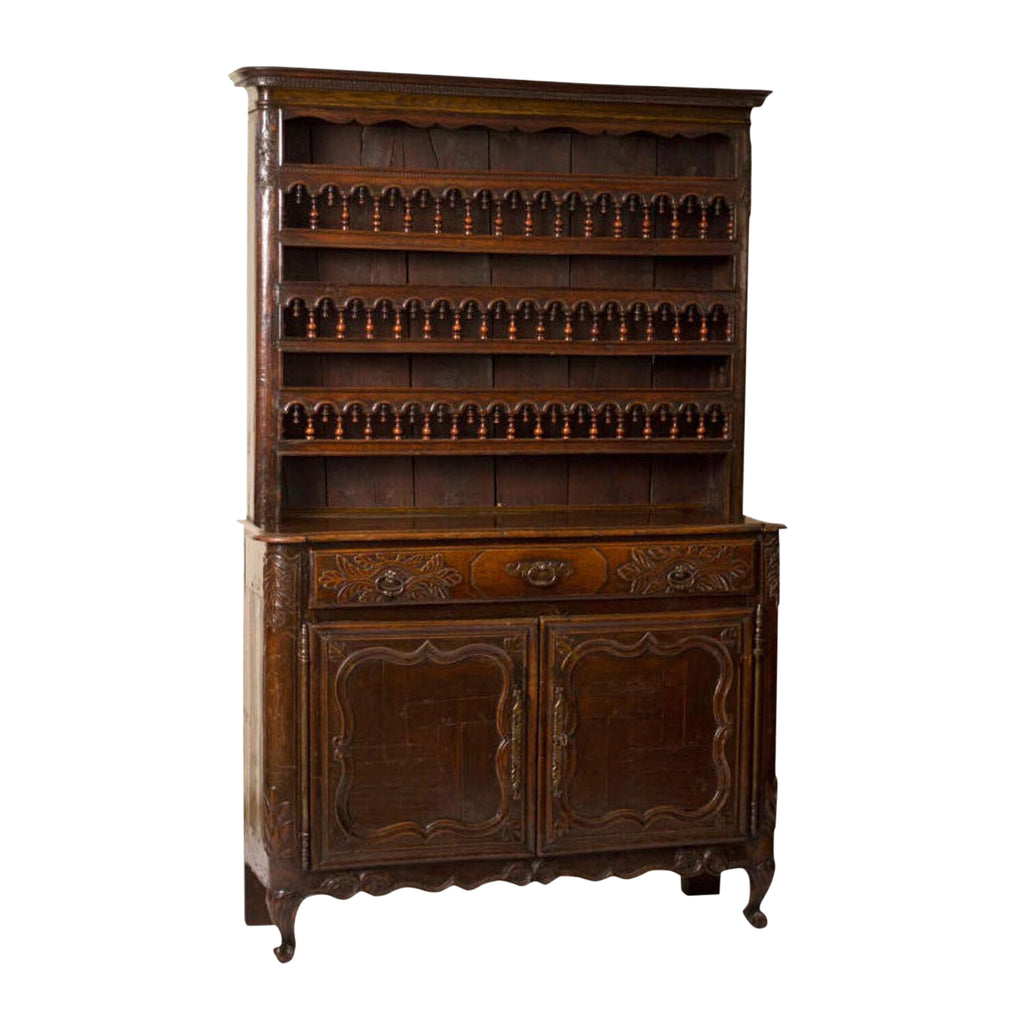 French Carved Kitchen Cabinet / Vaisselier, Circa 1790