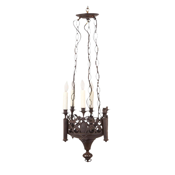 Gothic Revival Chandelier, France Circa 1870