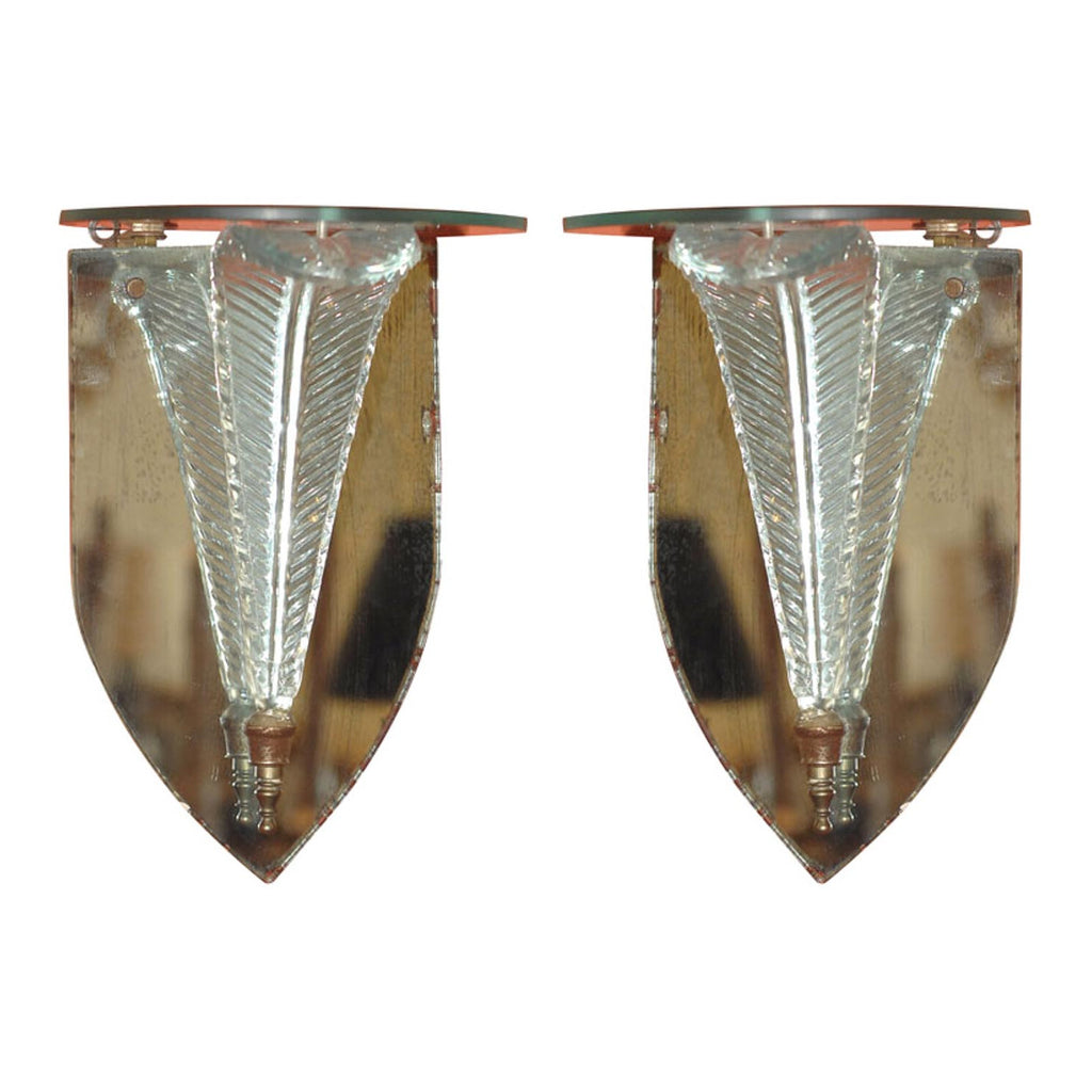 Pair of Grosfeld House Mirrored Brackets