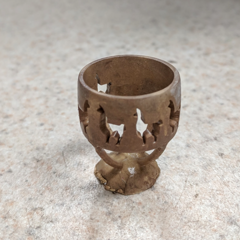 rough casting of Llama ring