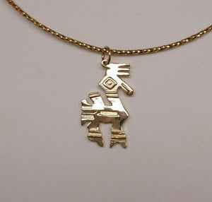 Custom Pendant with Farm or Ranch Logo - 14K Yellow Gold