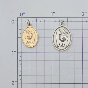 Alpaca or Llama Reflection Petrogylph Charms