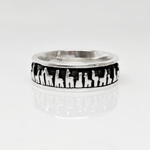 Alpaca Suri Her Line Eternity Band - Sterling Silver