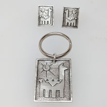 Load image into Gallery viewer, Custom Earrings and Key Ring with Farm or Ranch Logo - Sterling Silver