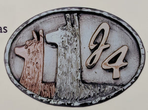 Custom Belt Buckls with Farm or Ranch Logo - Sterling Silver with 14K Yellow and Rose Gold Accents