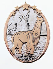 Load image into Gallery viewer, Custom Pendant with Farm or Ranch Logo - Sterling Silver with 14K Yellow Gold Accents