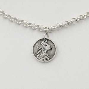 Llama Luck Reversible Charm - Sterling Silver