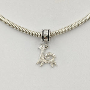 Tell Your Story Charms - Pandora Style  Sterling Silver Leaping with Spiral