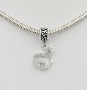 Tell Your Story Charms - Pandora Style  Sterling Silver Alpaca Huacaya Open Silhouette