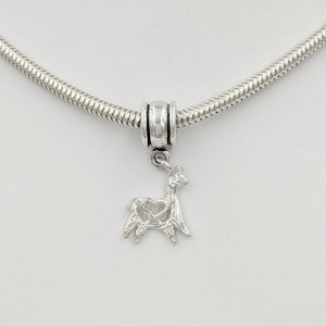 Tell Your Story Charms - Pandora Style  Sterling Silver Leaping with Heart