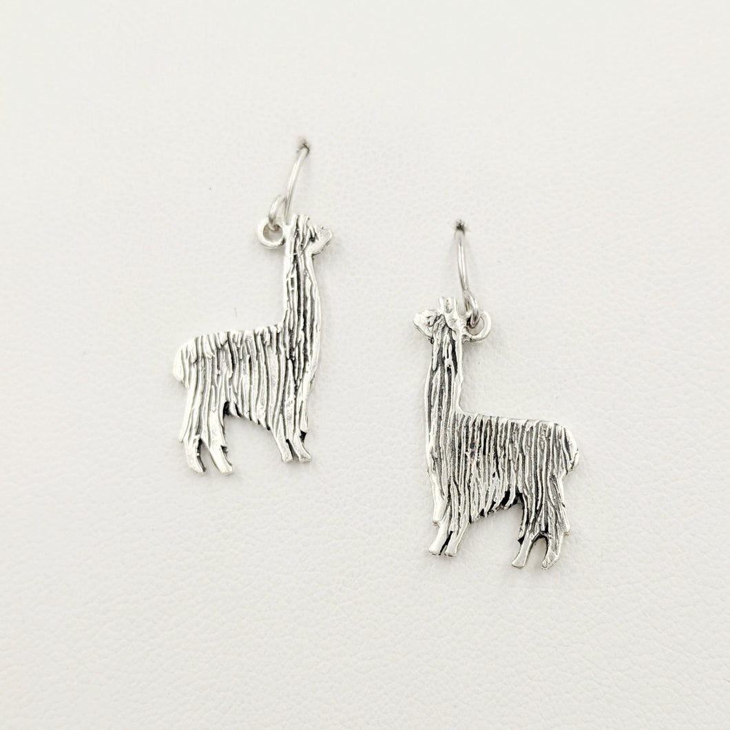 Alpaca Suri or Llama Silhouette Earrings - On French wires