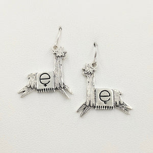 Alpaca Suri Or Llama  Leaping Estrogen Earrings Sterling Silver
