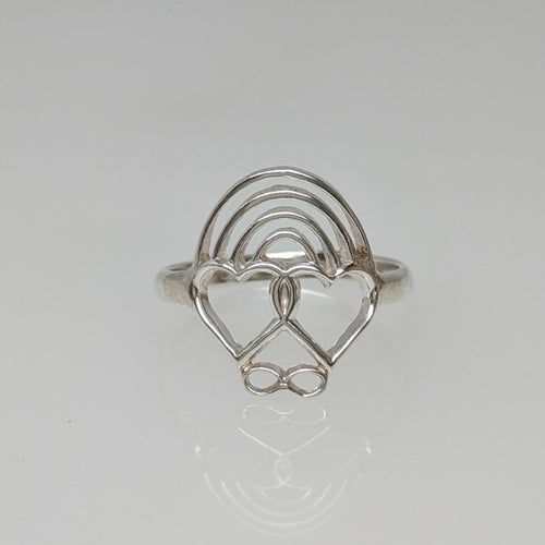 Rainbow Bridge Ring  Sterling Silver