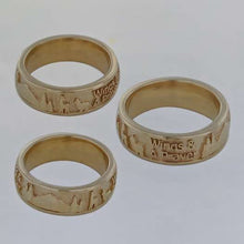 Load image into Gallery viewer, Custom Rings with Farm or Ranch Logos - 14K Yelow Gold